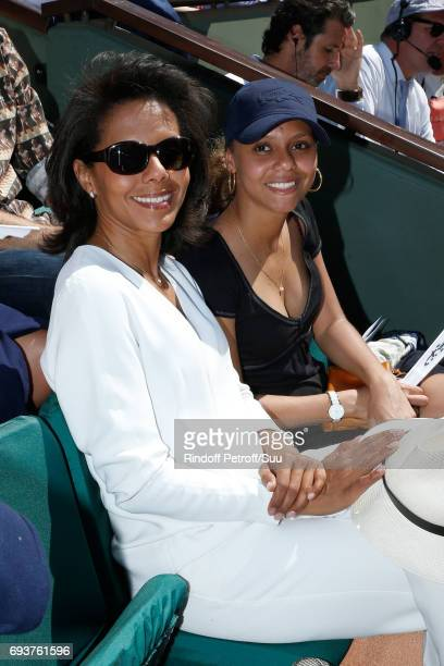 Journalist Audrey Pulvar and her niece Mareva attend the 2017 French Tennis Open Day Twelve at Roland Garros on June 8 2017 in Paris France