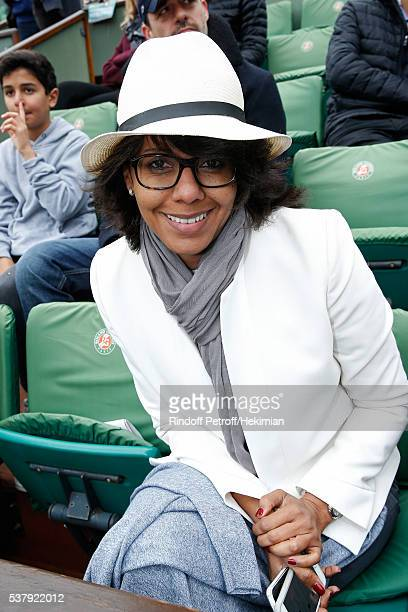 Journalist Audrey Pulvar attends Day Thirteen of the 2016 French Tennis Open at Roland Garros on June 3 2016 in Paris France