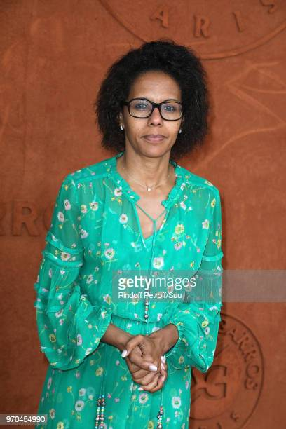 Journalist Audrey Pulvar attends the 2018 French Open Day Fourteen at Roland Garros on June 9 2018 in Paris France