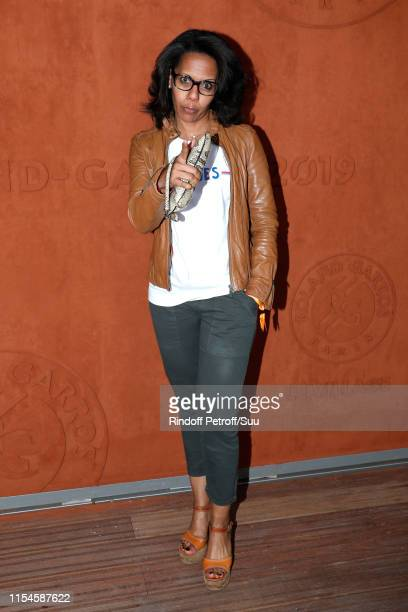 Journalist Audrey Pulvar attends the 2019 French Tennis Open Day Fourteen at Roland Garros on June 08 2019 in Paris France