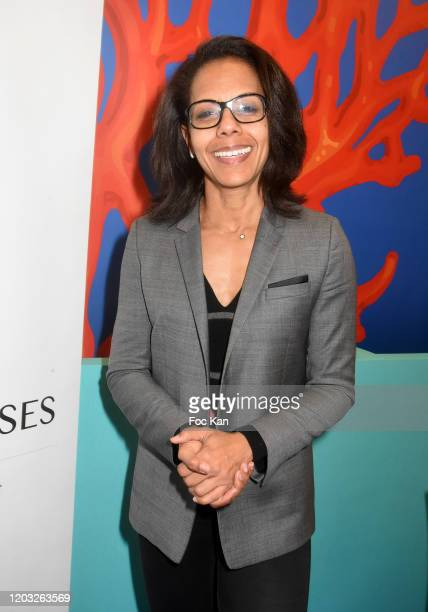 TV journalist Audrey Pulvar attends the 5th Salon de la Gastronomie des OutreMer Launch Cocktail At Palais Des Expositions Porte De Versailles on...