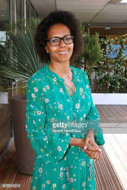 Journalist Audrey Pulvar attends the Women Final of the 2018 French Open Day Fourteen at Roland Garros on June 9 2018 in Paris France