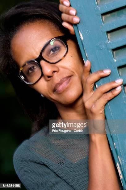 Journalist Audrey Pulvar poses during a portrait session in Paris France on