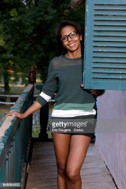 Journalist Audrey Pulvar poses during a portrait session in Paris France on