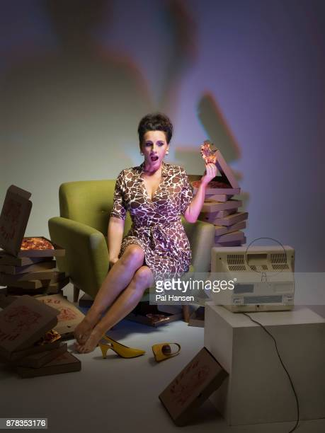 Journalist author and broadcaster Grace Dent is photographed for the Observer on August 15 2017 in London England