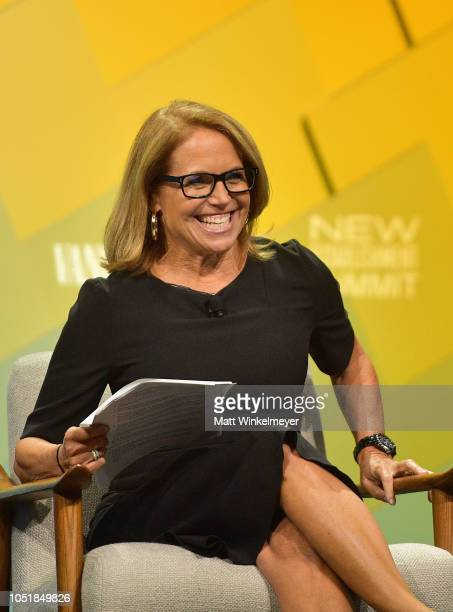 Journalist author and founder of Katie Couric Media Katie Couric speaks onstage at Day 2 of the Vanity Fair New Establishment Summit 2018 at The...