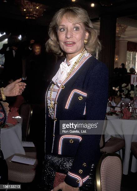 TV journalist Barbara Walters attend the Saks Fifth Avenue's Adolfo Fashion Show and The Colleagues Valentine's Day Luncheon to Honor Nancy Reagan on...