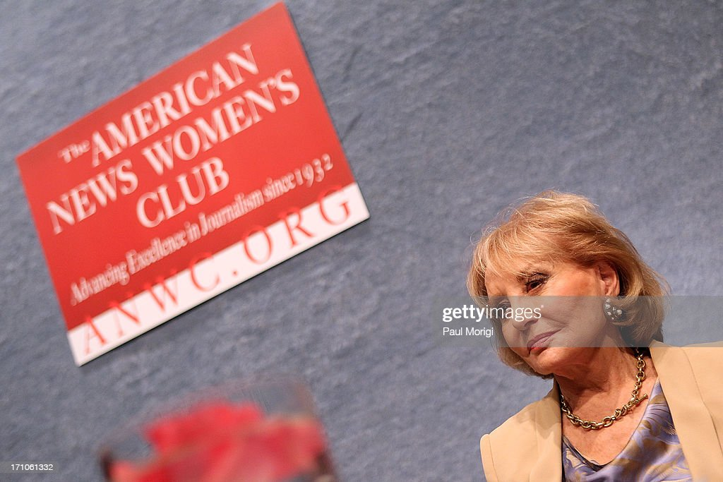 Journalist Barbara Walters is honored at the American News Women's Club 2013 Gala Award luncheon at The National Press Club on June 21, 2013 in Washington, DC.