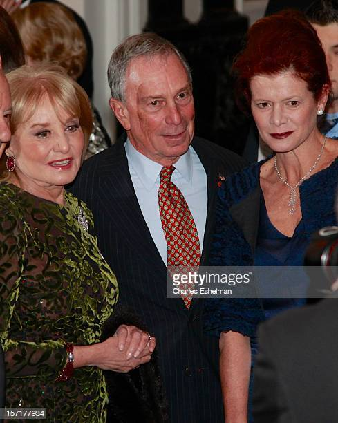 Journalist Barbara Walters, New York City Mayor Michael Bloomberg and Lady Foster of Thames Bank Elena Ochoa attend the Queen Sofia Spanish Institute...