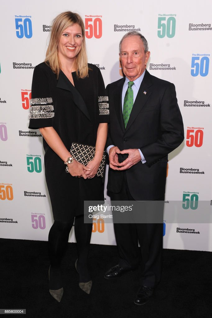 Journalist Beatrice Fihn (L) and Michael Bloomberg attend 'The Bloomberg 50' Celebration at Gotham Hall on December 4, 2017 in New York City.