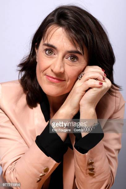 Journalist Berangere Bonte poses during a portrait session in Paris France on