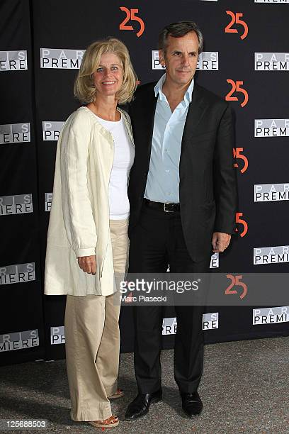 Journalist Bernard de la Villardiere and his wife Anne attend the Paris Premiere 25th Anniversary Celebration at Grand Palais on September 20 2011 in...
