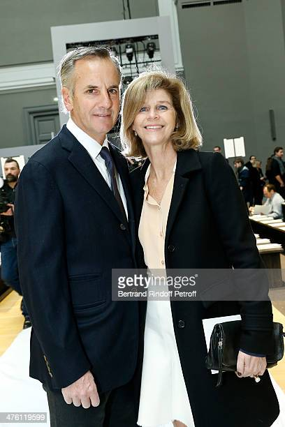 Journalist Bernard de la Villardiere with hhis wife Anne de la Villardiere attend the Chloe show as part of the Paris Fashion Week Womenswear...