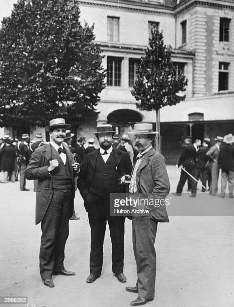 Journalist Bernard Lazare at Rennes with two companions during the retrial of French army officer Alfred Dreyfus accused of treason His indefatigable...