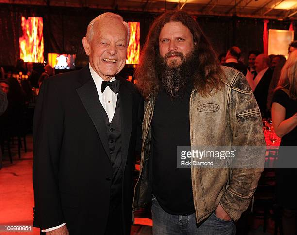 Journalist Bob Schieffer and singer/songwriter Jamey Johnson attends the 58th Annual BMI Country Music Awards at BMI on November 9 2010 in Nashville...