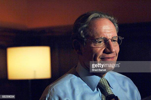 """Journalist Bob Woodward is interviewed at the screening of """"All The President's Men"""" at the Tribeca Cinemas on July 19, 2005 in New York City."""