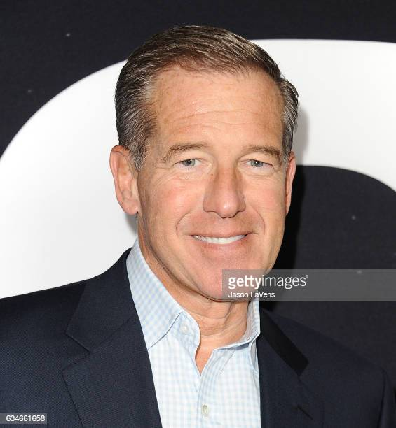 Journalist Brian Williams attends a screening of 'Get Out' at Regal LA Live Stadium 14 on February 10 2017 in Los Angeles California