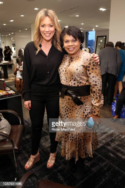 Journalist Brooke Baldwin and author and journalist April Ryan pose at Lafayette 148 New York x April Ryan Under Fire Book Launch on September 13...