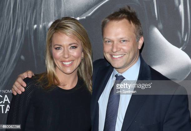 """Journalist Brooke Baldwin and James Fletcher attend the """"Molly's Game"""" New York premiere at AMC Loews Lincoln Square on December 13, 2017 in New York..."""