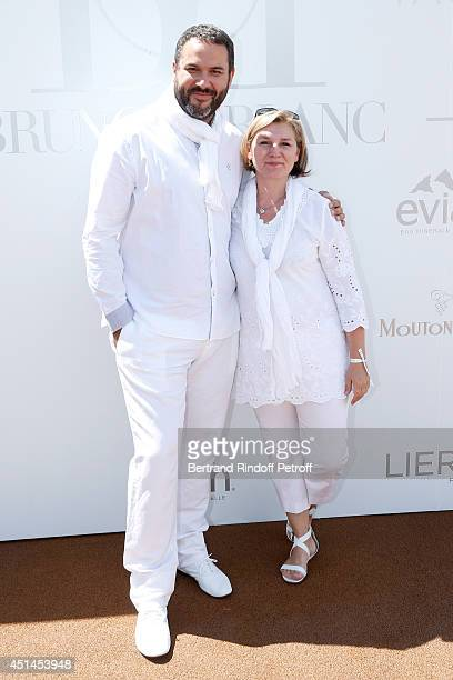 Journalist Bruce Toussaint and his wife Catherine attend the 'Brunch Blanc' hosted by Barriere Group. Held on Yacht 'Excellence' on June 29, 2014 in...