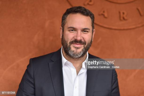Journalist Bruce Toussaint attends the Men Final of the 2018 French Open Day Fithteen at Roland Garros on June 10 2018 in Paris France