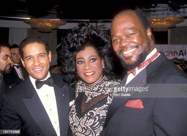 Journalist Bryant Gumbel Singer Patti LaBelle and Activist Roy Innis attend the Congress of Racial Equality Sixth Annual Martin Luther King...