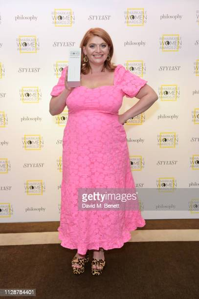 Journalist Bryony Gordon winner of the Hope and Grace Award for Mental Health Advocate attends Stylist's inaugural Remarkable Women Awards in...