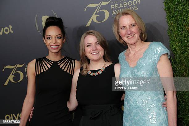Journalist Caitlin Dickerson Senior Producer at NPR Nicole Beemsterboer and Research Librarian at NPR Barbara Van Woerkom attend the 75th Annual...