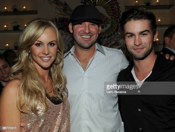 Journalist Candice Crawford, NFL player Tony Romo and actor Chace Crawford attend the PEOPLE/TIME party on the eve of the White House Correspondents'...