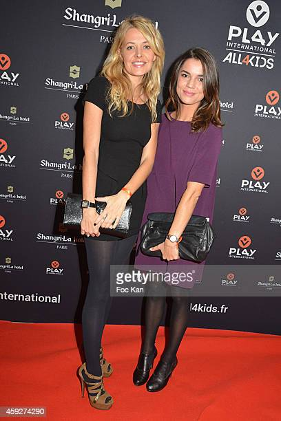 Journalist Carine Galli and journalist Cecile Gres attend the 'All4Kids' PL4Y International Launch Party At The Shangri-la Hotel on November 19, 2014...