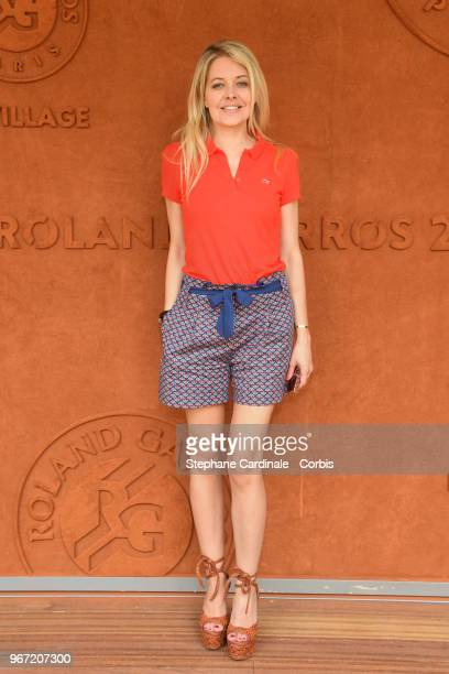 Journalist Carine Galli attends the 2018 French Open Day Nine at Roland Garros on June 4 2018 in Paris France