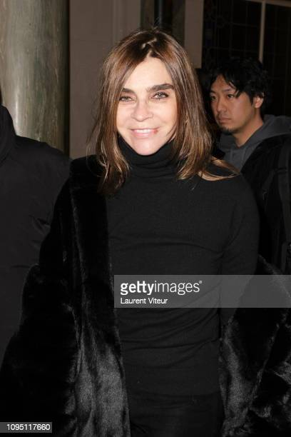 Journalist Carine Roitfeld attends the Raf Simons Menswear Fall/Winter 20192020 show as part of Paris Fashion Week on January 16 2019 in Paris France