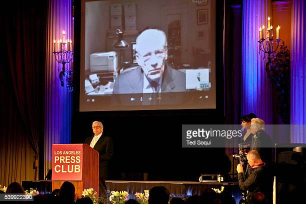 Journalist Carl Bernstein receives the 2102 Presidents Award from the Los Angeles Press Club 54th Annual Southern California Journalism Awards at the...