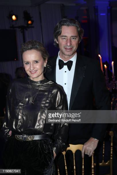 Journalist Caroline Roux and CEO of Facebook France Laurent Solly attend the Annual Charity Dinner hosted by the AEM Association Children of the...