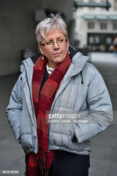 Journalist Carrie Gracie outside BBC Broadcasting House in London after she turned down a pound45000 rise describing the offer as a quotbotched...