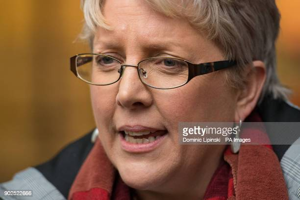 Journalist Carrie Gracie speaks to the media outside BBC Broadcasting House in London after she turned down a £45000 rise describing the offer as a...