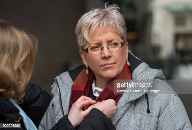 Journalist Carrie Gracie speaks to the media outside BBC Broadcasting House in London after she turned down a pound45000 rise describing the offer as...
