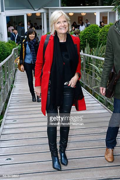 Journalist Catherine Ceylac attends Day Twelve of the 2016 French Tennis Open at Roland Garros on June 2 2016 in Paris France