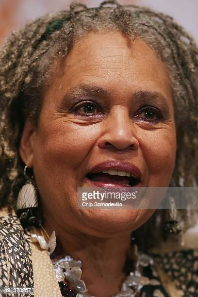 Journalist Charalayne HunterGault participates in a discussion about civil rights during the NAACP Legal Defense Fund's luncheon to commemorate the...