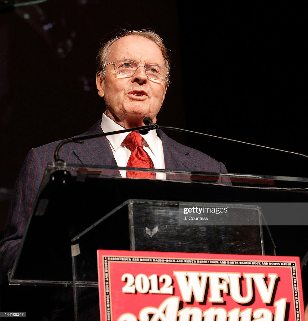 Journalist Charles Osgood presents the 2012 Charles Osgood Lifetime Achievement Award for Broadcast Journalism at the 5th annual WFUV Radio Spring Gala at Gotham Hall on May 10, 2012 in New York City.
