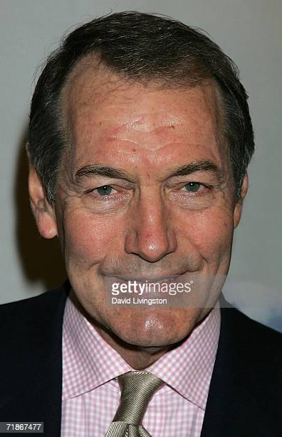 Journalist Charlie Rose attends the Hollywood Radio Television Society's A Conversation with Leslie Moonves Newsmaker Luncheon at the Regent Beverly...