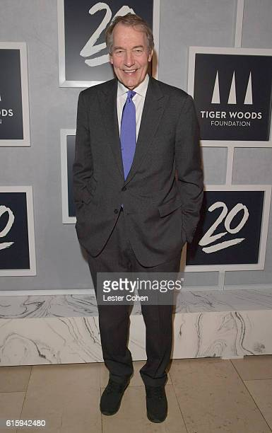 Journalist Charlie Rose attends Tiger Woods Foundation's 20th Anniversary Celebration at the New York Public Library on October 20 2016 in New York...