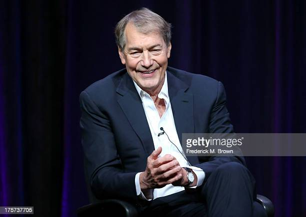 Journalist Charlie Rose speaks onstage during the 'Charlie Rose The Week' panel discussion at the PBS portion of the 2013 Summer Television Critics...