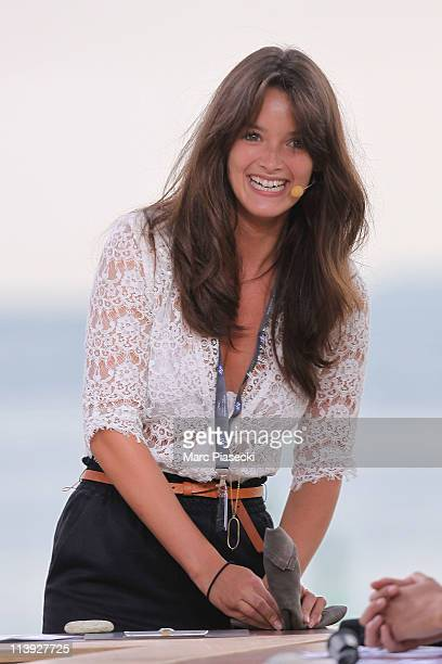 TV journalist Charlotte Le Bon attends the 'Le Grand Journal' daily show rehearsal on May 10 2011 in Cannes France