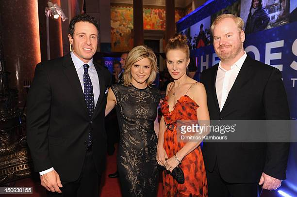 Journalist Chris Cuomo Kate Bolduan Jeannie Gaffigan and Jim Gaffigan attend 2013 CNN Heroes An All Star Tribute at the American Museum of Natural...