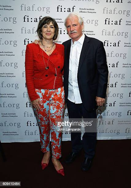 Journalist Christiane Amanpour and director Yann ArthusBertrand attend 'Human' Special Screening at French Institute Alliance Francaise on September...