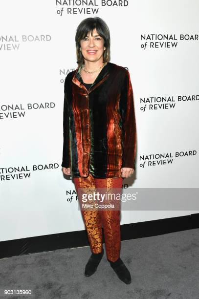 Journalist Christiane Amanpour attends the 2018 The National Board Of Review Annual Awards Gala at Cipriani 42nd Street on January 9 2018 in New York...