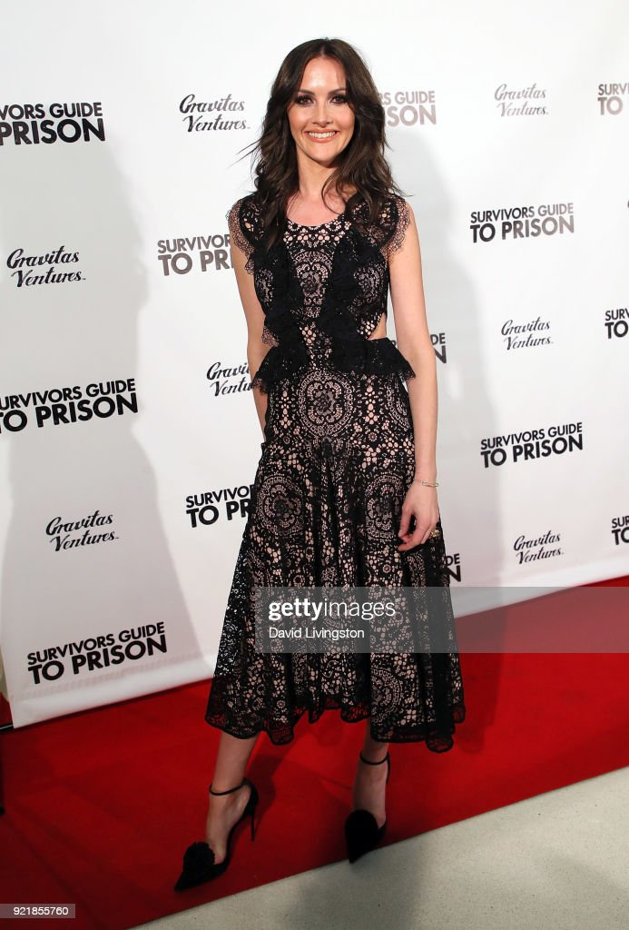Journalist Christina McLarty Arquette attends the premiere of Gravitas Pictures' 'Survivors Guide to Prison' at The Landmark on February 20, 2018 in Los Angeles, California.