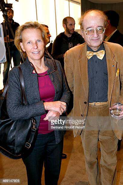 Journalist Christine Ockrent and President of EJCM JeanClement Texier attend the Prize Winning Ceremony for the 'Prix JeanLuc Lagerdere du...