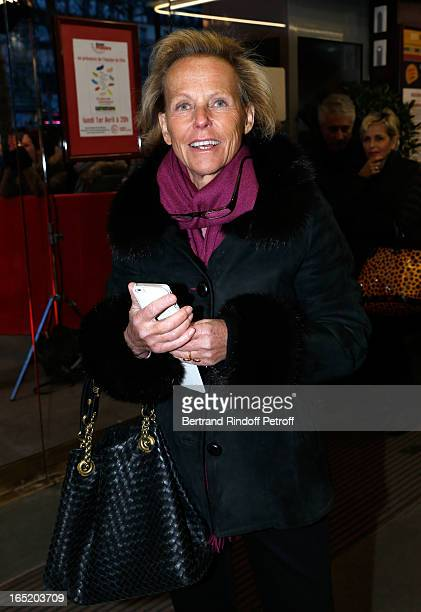 Journalist Christine Ockrent attends 'Des gens qui s'embrassent' movie premiere at Cinema Gaumont Marignan on April 1 2013 in Paris France
